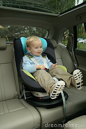 Free Baby In Car Seat Royalty Free Stock Photo - 14282405