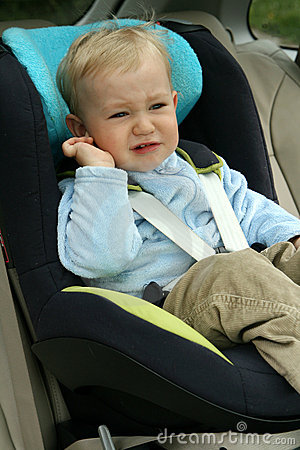 Free Baby In Car Seat Stock Photo - 14647620