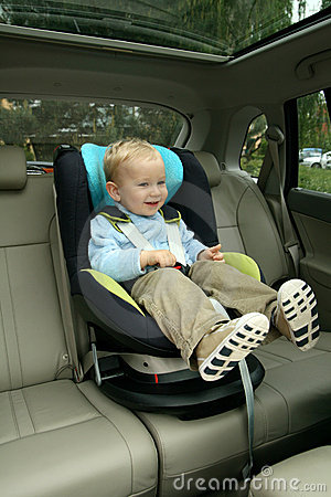 Free Baby In Car Seat Stock Images - 15000854