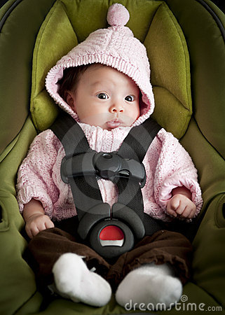 Free Baby In Car Seat Royalty Free Stock Image - 17676746