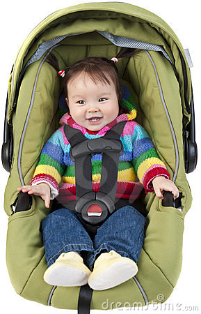 Free Baby In Car Seat Stock Photos - 19007713