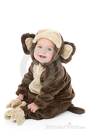 Free Baby In Monkey Costume Stock Photos - 5636483