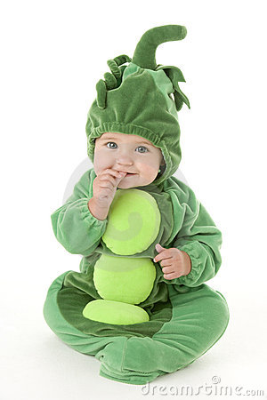 Free Baby In Peas In Pod Costume Royalty Free Stock Image - 5640476