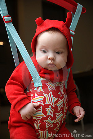 Free Baby In The Jumper Royalty Free Stock Image - 14138746