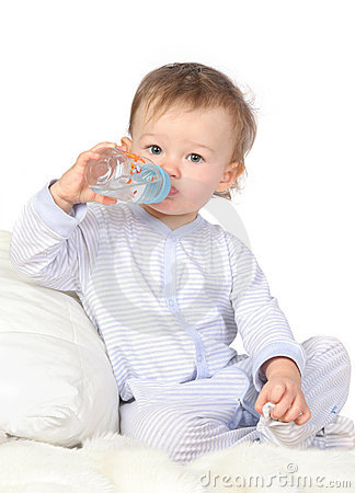 Free Baby Is Drinking Water Stock Photos - 8057443