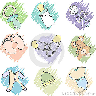 Free Baby Items Stock Image - 1915711