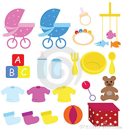 Free Baby Items Royalty Free Stock Image - 7703276
