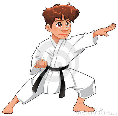Free Baby Karate Player. Royalty Free Stock Photography - 16316277