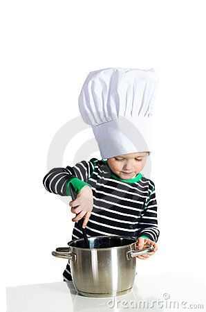 Baby kitchen chef cook