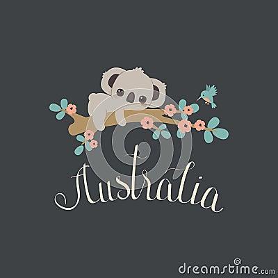 Free Baby Koala And Hummingbird Royalty Free Stock Photo - 98681785