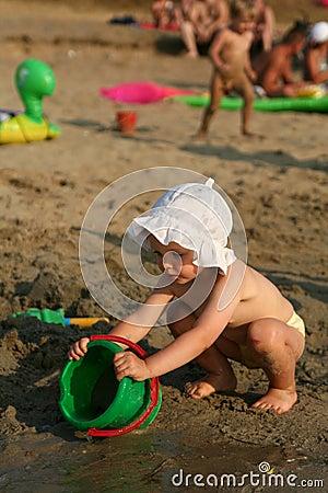 Baby at lake