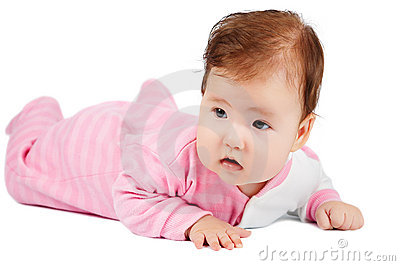 Baby learn to crawl