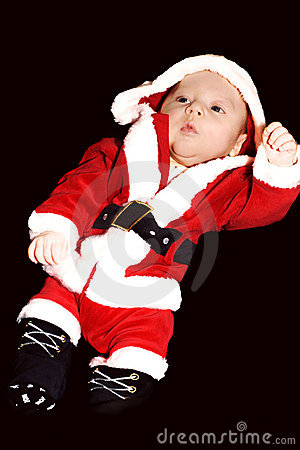 Baby little father christmas