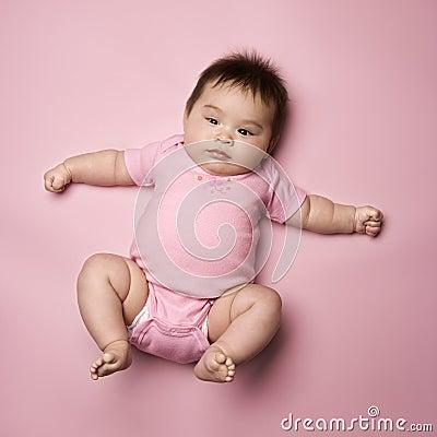 Free Baby Lying On Back. Royalty Free Stock Image - 2044736