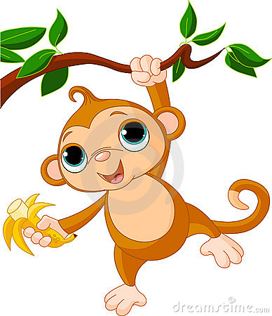 Free Baby Monkey On A Tree Royalty Free Stock Image - 19434566