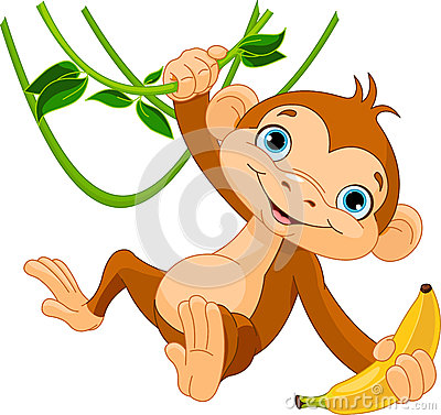 Free Baby Monkey On A Tree Royalty Free Stock Image - 29054016