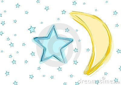 Baby Moon and stars