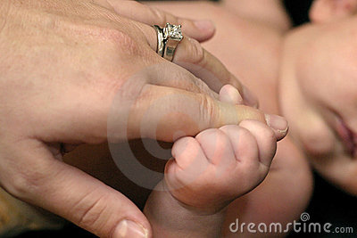Baby and Mother Hands