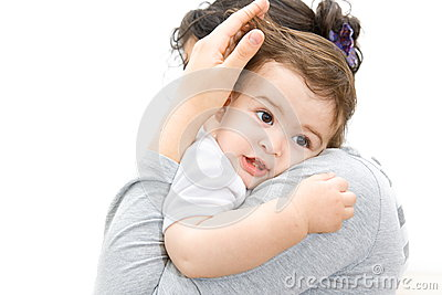 Child in mothers arms