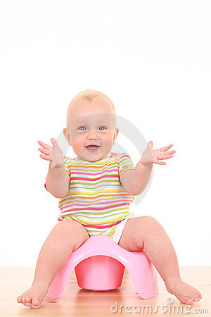 Free Baby On Potty Stock Photos - 2996203