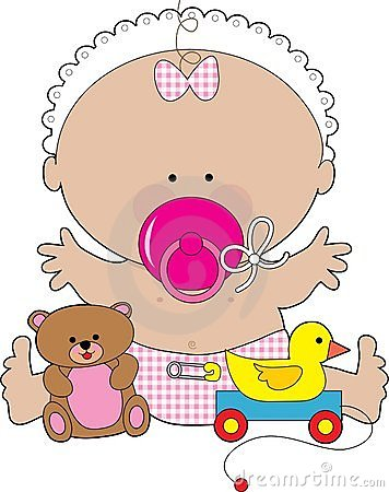 Free Baby Pacifier Girl Royalty Free Stock Photo - 4254435