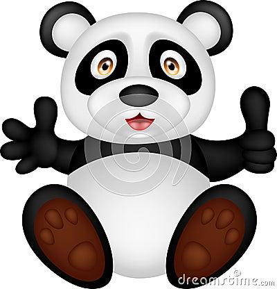 Free Baby Panda With Thumb Up Stock Photo - 28761800