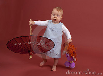 Baby with parasol