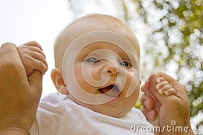 Baby in parent hands