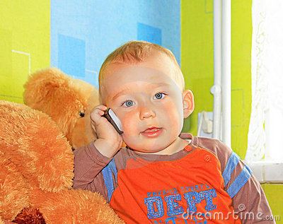 Baby with phone