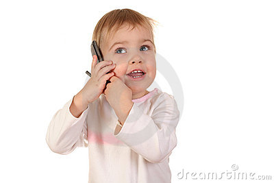 Baby with phone 4