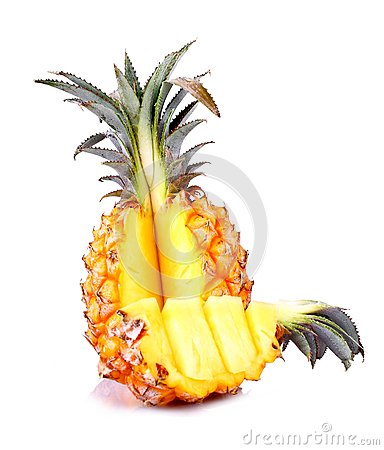 Free Baby Pineapple Sliced On White Background Stock Photo - 30306110