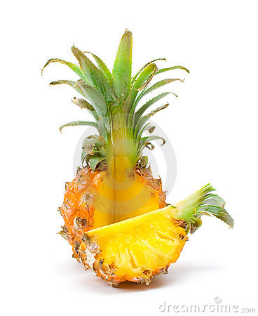 Free Baby Pineapple With A Slice Royalty Free Stock Images - 12388329