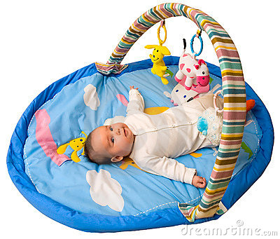 Baby play with clipping path