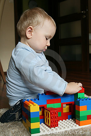 Baby Playing With Blocks Royalty Free Stock Photography - Image: 14307427