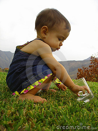 Baby Playing With Ice