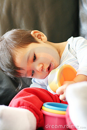 Free Baby Playing Wih Toys Stock Photography - 3259442