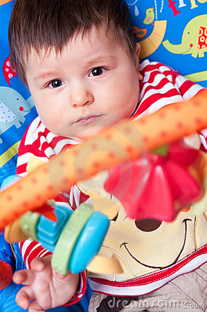 Free Baby Playing With Mobile Royalty Free Stock Images - 14395589