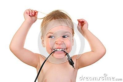 Baby with plug