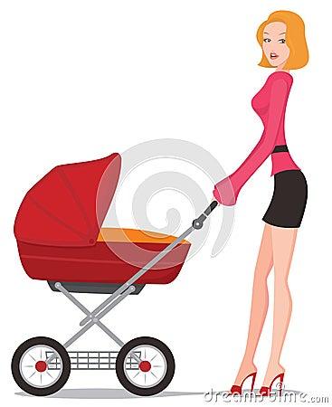 Free Baby Pram Stock Images - 19542554