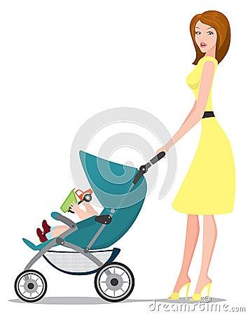 Free Baby Pram Royalty Free Stock Photos - 20498738