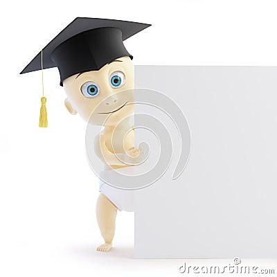 Baby preschool graduation cap form