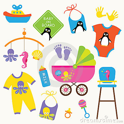 Free Baby Product Set Royalty Free Stock Photography - 15190387