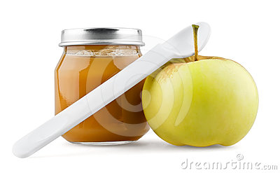 Baby puree with apple