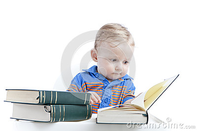 Baby reading books