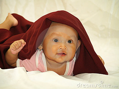 Baby in Red Veil