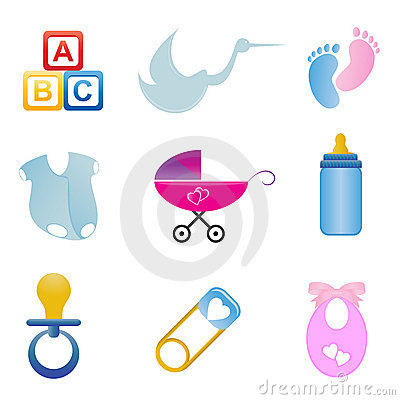 Baby related icon set