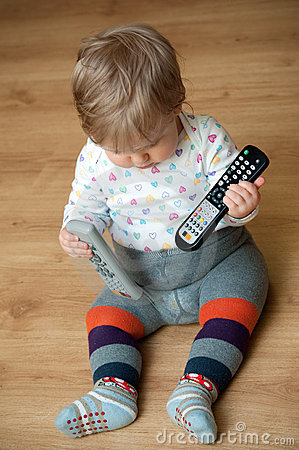 Baby with remote controls