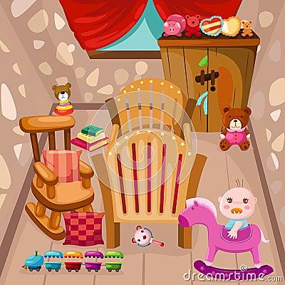 Free Baby Room Royalty Free Stock Photo - 25223105