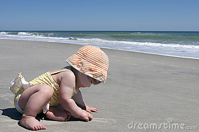 Baby s first trip to the beach