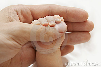 Baby Hand, Family Father and New Born Kid, Newborn Child